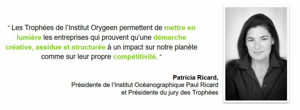 Patricia Ricard, Présidente du jury des Trophées